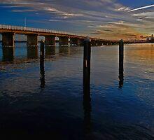 Sunset on Forster Bridge by bazcelt