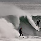 Twin surfers, Newcastle Beach by bazcelt