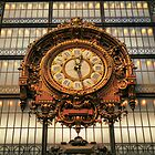 Paris -  Ancient Clock in Orsay Museum by jean-louis bouzou