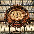 Paris -  Ancient Clock in Orsay Museum by jean-louis bouzou