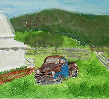 Beat up Truck in Blue Ridge Mountains by sheilah