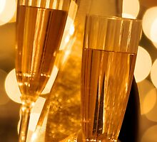 Two champagne glasses by snehit