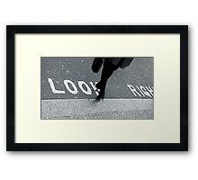 """""""Look Right!"""" Framed Print"""