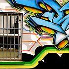 Open window, and urban art by buttonpresser