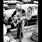Street Musician - San Francisco by Mark W. Smith