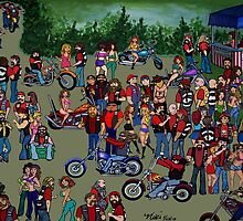 Biker Rally by nicole swanbeck