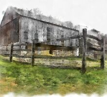Barn at the Burnside Plantation in Bethlehem, Pa. by DaveHrusecky