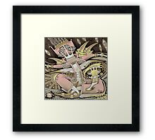 Pink in a Boat Framed Print