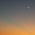 New Moon and Sunset on top of Waikiki by kekipi