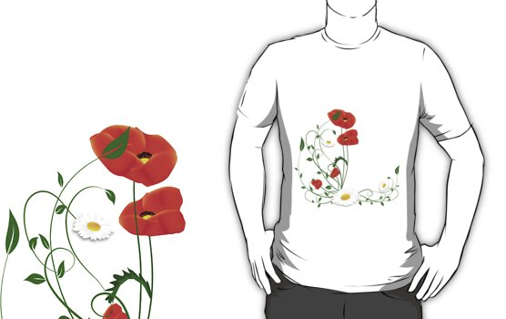 poppies and daisies by bonardelle