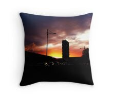 Sunrise Over Woodside Throw Pillow