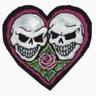 purple skull heart by nicole swanbeck