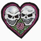 purple skull heart by nicole swanbeck
