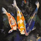 Three Koi Fish by Michael Creese