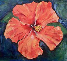 Orange Hibiscus by Michael Creese
