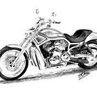 Harley Davidson VRod by thebikeartist