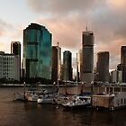 Brisbane Sunset by Helen Martikainen