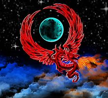 Scarlet Moon Dragon by shutterbug2010
