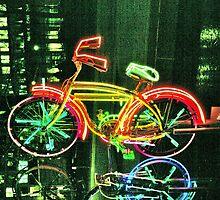 Neon Bicycle Take Three by Lorraine Bratis