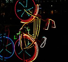 Neon Bicycle  by Lorraine Bratis
