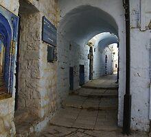 Abuhav alley Safed by Moshe Cohen