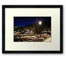 Square at night  (Stockholm, Sweden) Framed Print