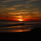 Holden Beach Sunset Wave by William Herpel