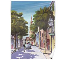 """Church Street"" Charleston SC USA Poster"