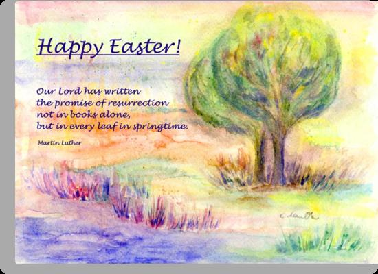 "Easter Greetings  ""Promise of Resurrection"" by Caroline  Lembke"