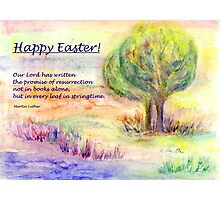 "Easter Greetings  ""Promise of Resurrection"" Photographic Print"