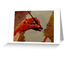 Hand Painted Painted Hand Painting Traditional Painting  Greeting Card