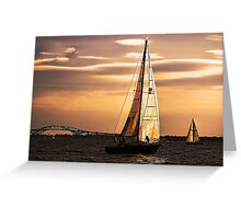Sails of Gold Greeting Card