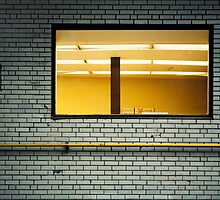 montreal alley window at dusk by meanderthal