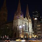 Melbourne Church by Night by Stephen Horton