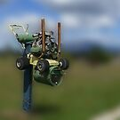 Lawnmower Letterbox by Josie Jackson