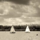 Three Yachts - Caldecotte by Nick Bland