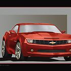 CAMARO IN RED by COLIN TRESADERN