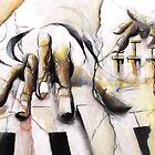 Music-hands fresco-style  by Philip Gaida