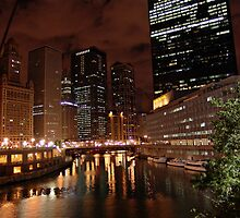 ChicagoLand river @ night by TFreestyle
