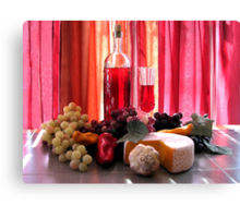 Wine In The Dinning Room Canvas Print