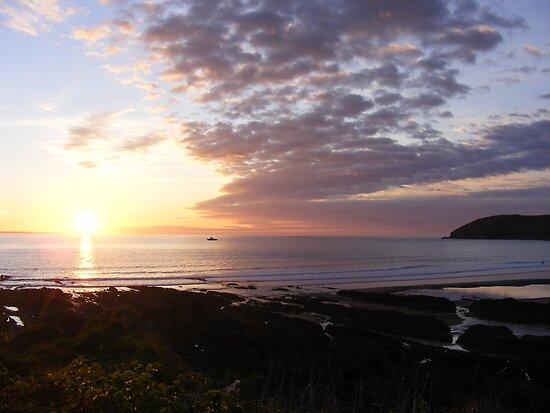 sunset on the headland by harryland93