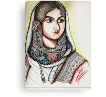 Bhadur Shahs's queen Canvas Print
