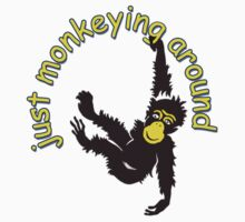 Funny Monkey T Shirt by simpsonvisuals