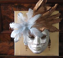 Theatrical Face Mask Mounted on an Artboard. by Mywildscapepics