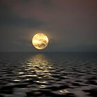 Moon over Water by redhawk