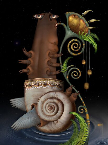 Snail by Yuliya Art