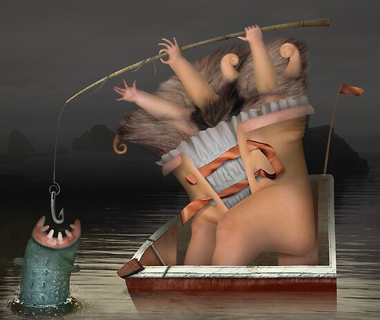 Fishing by Yuliya Art