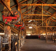 The inside - Woolshed Lake Mungo by Hans Kawitzki
