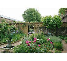 Elizabethan walled garden, Geffrye Museum, Shoreditch Photographic Print