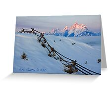 Running Buck & Rail, First Light on the Grand Greeting Card
